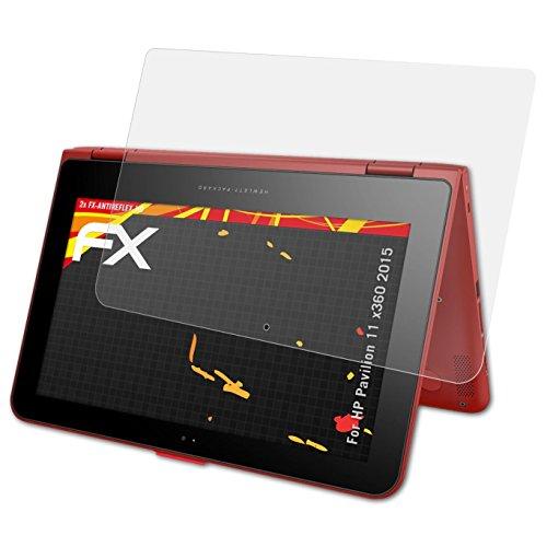 atFolix Schutzfolie kompatibel mit HP Pavilion 11 x360 2015 Bildschirmschutzfolie, HD-Entspiegelung FX Folie (2X)