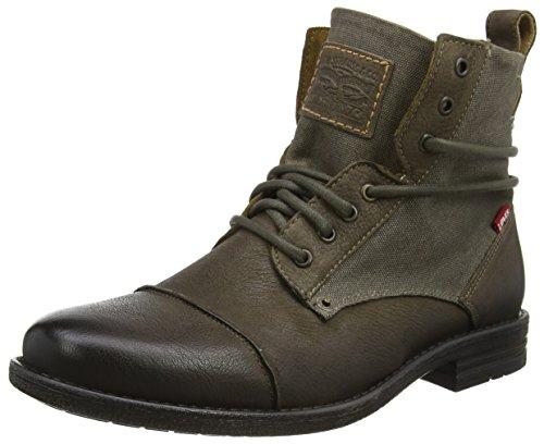 Levi's Herren Emerson Biker Boots, Grau (Noir Regular Grey), 44 EU