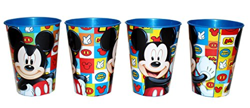 4 pieza Disney Mickey Mouse Vaso Zumo Vasos Set Mickey Mouse