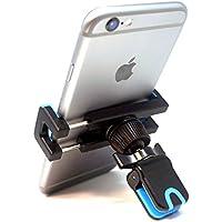 Soporte Movil Coche con Clip, iVoler Air Vent Car Mount Universal 360 grados Rotación Soporte Teléfono Coche para Rejillas del Aire para iPhone X / 8 / 8 Plus / 7 / 7 Plus / 6(s) / 6(s) Plus / SE / 5s / 5, Samsung Galaxy S9 / S9+ / S8 / S8+ / S7 / S7 Edge / S6 / S5, Huawei, LG, Motorola, Xiaomi, BQ Aquaris, Sony y Android Móviles Dispositivo GPS. - Azul/Negro