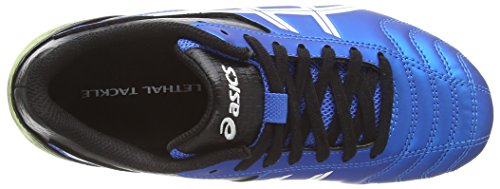 Asics Lethal Tackle Gs, Unisex-Kinder Rugbyschuhe Blau (electric Blue/white/flash Yell 3901)