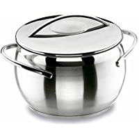 Lacor Belly 79124 - Olla con tapa, 24 cm en acero inoxidable 18/10
