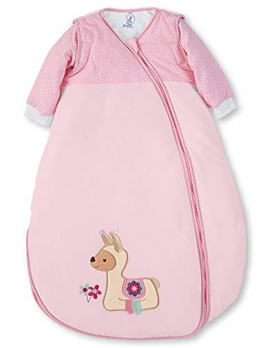 Sterntaler Schlafsack Kuschelzoo für Kleinkinder, Abnehmbare Ärmel, Wärmeregulierung, Reißverschluss, Größe: 90, Rosa