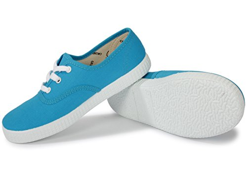 Victoria Inglesa Lona, Baskets Basses mixte adulte Turquoise