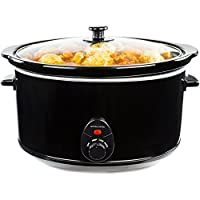 Andrew James 8 Litre Slow Cooker with Tempered Glass Lid