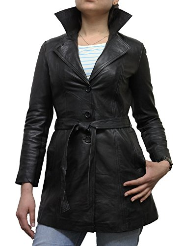 Damen Schwarz Real Schaffell-Blazer Jacken Mantel BNWT (Large 12)