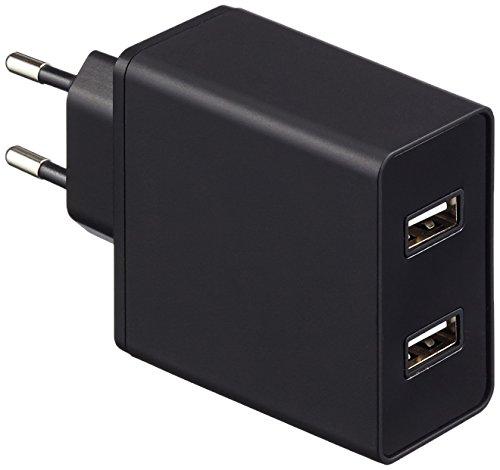 AmazonBasics - Cargador de pared con 2 puertos USB (4,8 A), color...