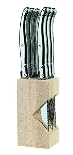 Laguiole Tradition Steakmesser-Satz, Ganzmetall Messer Mehrfarbig, One Size