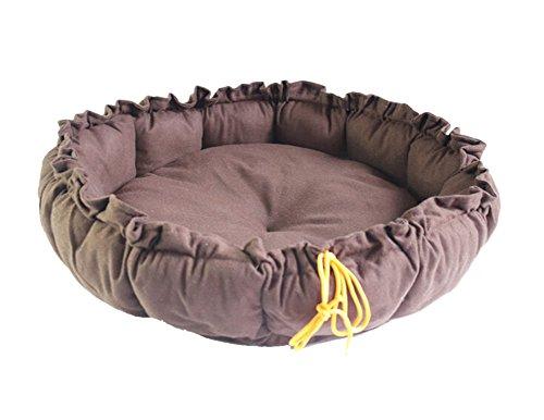 DAYAN multifunzione 2 in 1 Pet da letto di cotone morbido lavabile Pet Kennel nido cucciolo hot dog Cat Bed sacco a pelo Carino Casa Mat Cuscino taglia L colore del caffè - Bed Kennel