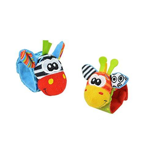 Joyfeel Buy Soft Baby Spielzeug Handgelenk Rassel Strap Socken Nette Esel Affe Panda Hund Cartoon Garten Bug Plüsch Rassel Für Babygebrauch