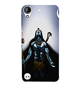 Takkloo Lord shiva blue background,god of hindus, painting of shiv, beautiful painting of shiv, shiv with damru and trishool) Printed Designer Back Case Cover for HTC Desire 530