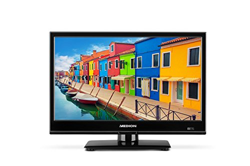 MEDION P13173 39,6 cm (15,6 Zoll HD) Fernseher (Triple Tuner, DVB-T2 HD, HDMI, USB, CI+, Mediaplayer, KFZ Car Adapter)