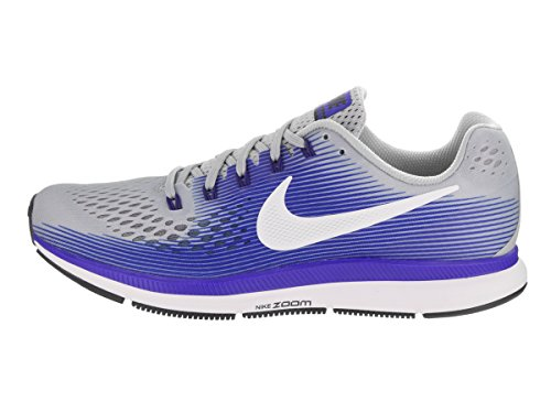 Nike Air Zoom Pegasus 34, Chaussures de Running Homme Wolf Grey/White Racer Blue