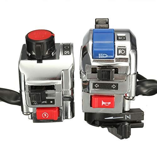 Ensamblaje universal para interruptor de motocicleta, faro/indicador/bocina/araña de peligro, etc. para manillares...
