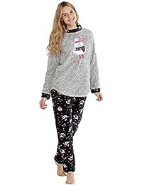 MASSANA Pijama de Mujer Tipo Polar P681249 - Gris Vigore, L