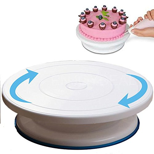 Ripiano girevole per decorazione torte, vassoio alzata girevole torta.