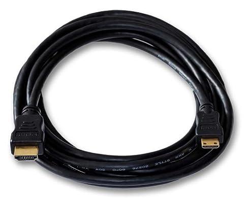 HDMI Kabel für Nikon D3100 Digitalkamera | Mini C | vergoldet | Länge 3m