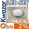 K-12 Einbaustrahler Set 1w 20p Led Warmweiss Inkl Gu10 230v Fassung - Nickel Matt Innox von Kwazar
