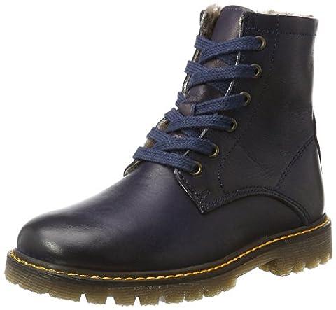 Bisgaard Unisex-Kinder Springerstiefel Combat Boots, Blau (604 Blue), 35 EU