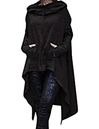 Sweat à Capuche Reaso Femmes Hoodie Sweatshirt Cardigan Mode Manteau Blouson  Loose Tunique Long À Capuche cf16fea32b9c