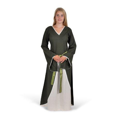 Battle-Merchant Mittelalterliches Kleid Merlyn, grün/natur - Mittelalterkleid - LARPkleid - Mittelalter Kleid Größe L/XL