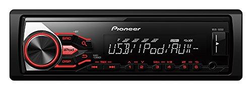Pioneer MVH-180UI Autoradio mit RDS, USB und AUX-Eingang für Apple iPod/iPhone Direktsteuerung/FLAC-Dateien (1-DIN) schwarz