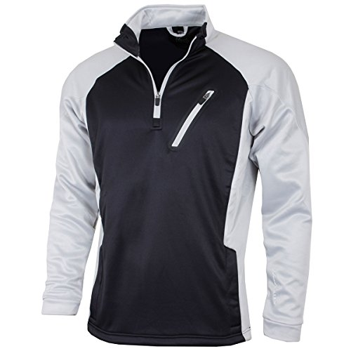 Island Green Men's 1/2 Zip Bonded Fleece
