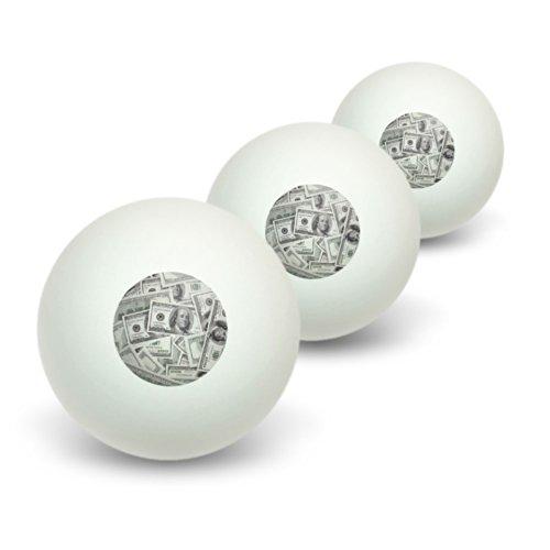 Hundert Dollar Rechnungen Geld Währung Neuheit Tisch Tennis Ping Pong Ball 3Pack