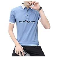 Coolred Men Vogue Summer Slim Fit Short-Sleeve Cotton Pique Polo Shirt Blue M