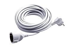 Meister Schutzkontakt-Verlängerung - 5 m Kabel - weiß - Kunststoffleitung - IP20 Innenbereich / Verlängerungskabel mit Kindersicherung / Schuko-Verlängerung / 7432510