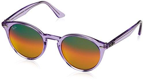 Ray-Ban, Occhiali da Sole Unisex-Adulto, Viola (Shiny Violet), 49 millimeters