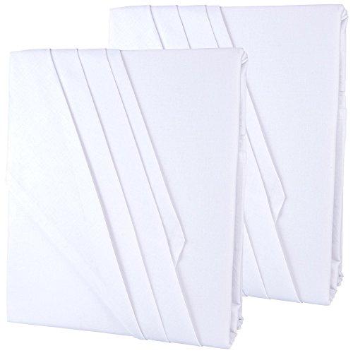 aqua-textil 2er-Set Bettlaken ohne Gummizug 2 Größen wählbar 100% Baumwolle Linon leichte Sommerdecke, klassisches Betttuch im Doppelpack 2X 150 x 250 cm weiß Serie Edition 2000113