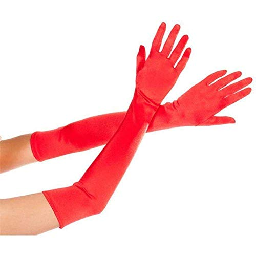 Inception pro infinite (Rot) Lange Stretchhandschuhe - Zubehör Verkleidung Kostüm Karneval Halloween Cosplay Elegant Sexy Frauenmädchen Einheitsgröße (Kostüme Cinderella 2019)