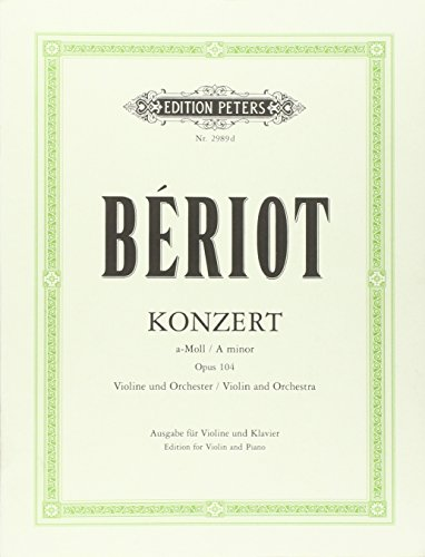 Konzert für Violine und Orchester Nr. 9 a-Moll op. 104: Klavierauszug