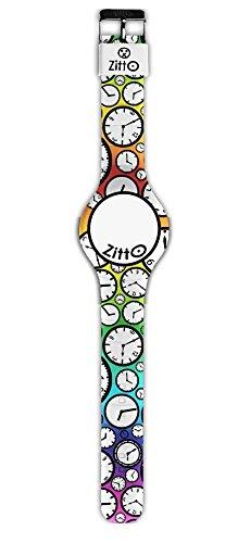 Orologio ZITTO FLASH EDITION a led con cinturino in silicone MULTICOLOR ORA LEGALE GRANDE