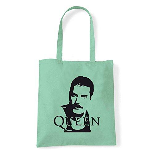 Art T-shirt, Borsa Shoulder Queen Freddy Mercury, Shopper, Mare Menta