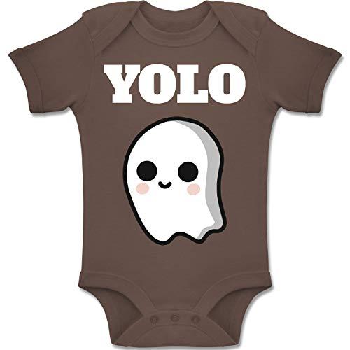 Shirtracer Anlässe Baby - Geist YOLO Motiv - 1-3 Monate - Braun - BZ10 - Baby Body Kurzarm Jungen Mädchen