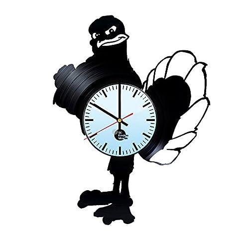Virginia Tech Hokies Handmade Vinyl Record Wall Clock Fun gift Vintage Unique...