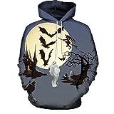 Sannysis Herren Slim Fit Hoodie Halloween 3D Drucken Langarm Unisex Kapuzenpullover Sweatshirt