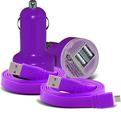 Fall für iPhone 7 Plus-Handy Smart Pinchers Form-Auto-Halterung Halter von i -Tronixs USB BLU Life One X (2016) Charger + 2x Data Cable (Purple)