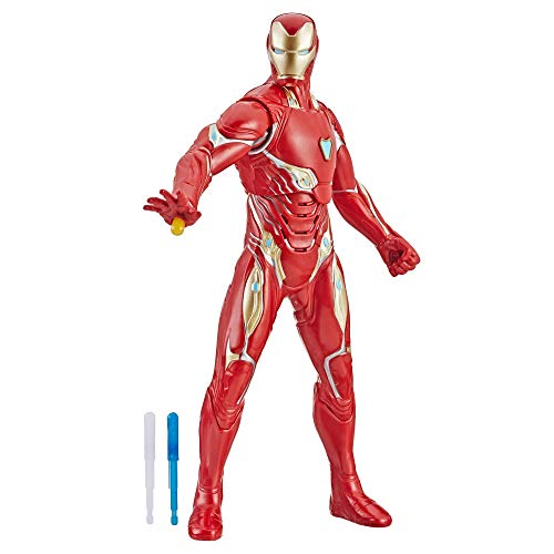 Hasbro Marvel Avengers Endgame - Iron Man Action Figure Interattiva Elettronica con 20 Suoni e Frasi in Inglese, 33 cm, Multicolore