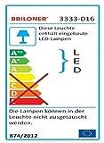 Briloner Leuchten LED Deckenleuchte, Wellen-Design, Dimmbar, Farbton Einstellbar: Warm Kalt Deckenlampe Inkl. Nachtlicht-Funktion, Timerfunktion, Fernbedienung, D: 50 cm, 45W, 50 x 50 x 8.9 cm
