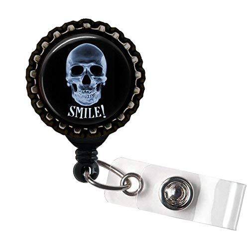 l RADIOLOGIST schwarz Retractable ID Tag Badge Reel von Geek Buttons ()