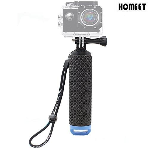 Homeet Poignée Flottant Etanche Action Caméra Grip Pôle Handle Anti-Glissant Selfie Stick à Plonger pour GoPro Session/SJCAM / Garmin Virb XE/Yi 4K / DBPOWER/QUMOX / Akaso -Bleu