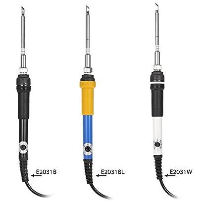 kkmoon T12DC 12–24V 75W Mini Temperatura Regulable 200–400°c eléctrica Soldador Soldadura con T12de K punta