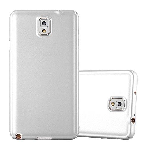 Cadorabo Hülle für Samsung Galaxy Note 3 - Hülle in Metall Silber - Hardcase Handyhülle im Matt Metal Design - Schutzhülle Bumper Back Case Cover Samsung-metal-handy