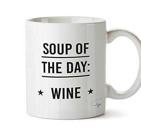 Hippowarehouse soupe du jour Vin 283,5gram Mug Cup, Céramique, blanc,