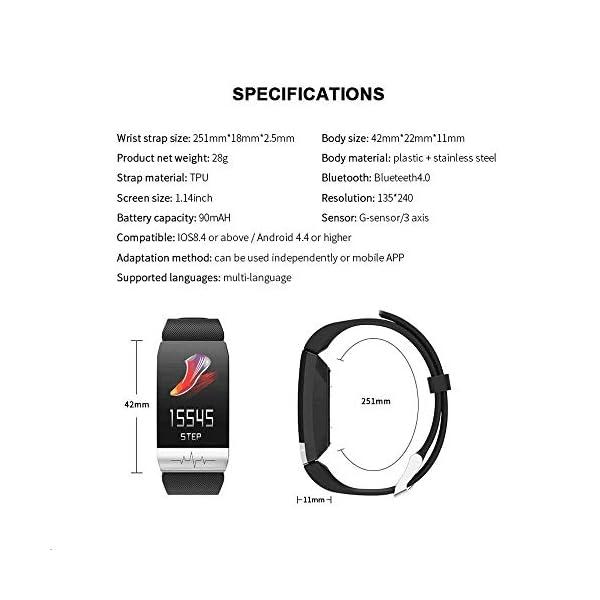 obqo Reloj Inteligente Pulsera Actividad Fitness Tracker con Pulsómetro,Monitor de Sueño de Presión Arterial,Podómetro,Contadores de Calorías IP67 Pulsera Deporte para Mujeres Hombres Android iOS 8