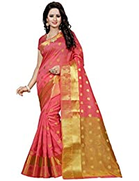 The Shopoholic Women's Cotton Silk Saree (DEVYANI PEACH 1_PEACH)