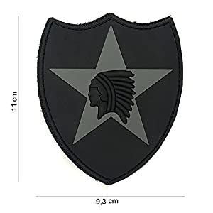 """Patch 3D PVC """"2nd Infantry"""" Noir / Cosplay / Airsoft / Camouflage"""